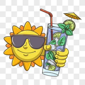戴墨镜的太阳公公图片