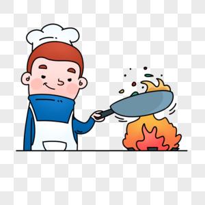 卡通手绘厨师图片