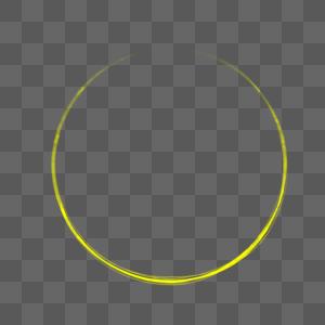 黄色光圈图片