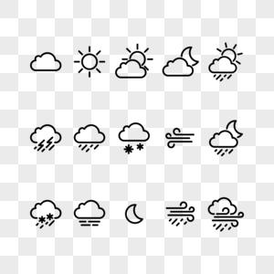 天气矢量图标图片