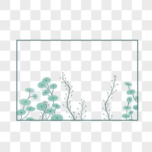 蓝色淡雅水彩边框图片
