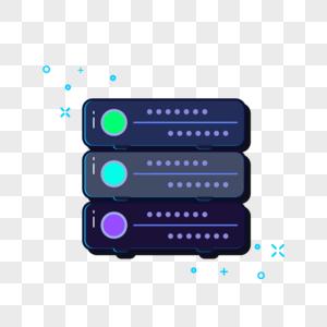 服务器插画元素图片
