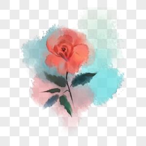 水彩手绘玫瑰花图片