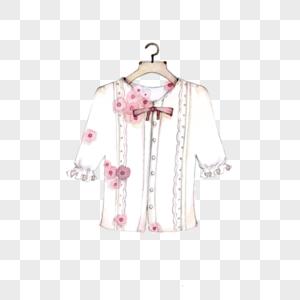 衬衫衣架创意水彩图片