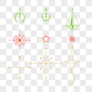 指北针与箭头图片