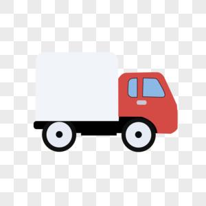 手绘卡通小货车图片