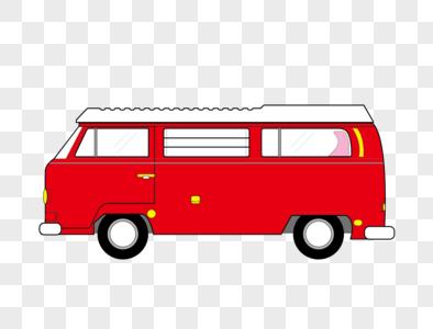 红色bus图片