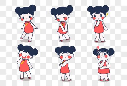 中国娃娃表情包图片
