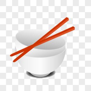 一副碗筷图片