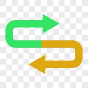 转向循环箭头图片
