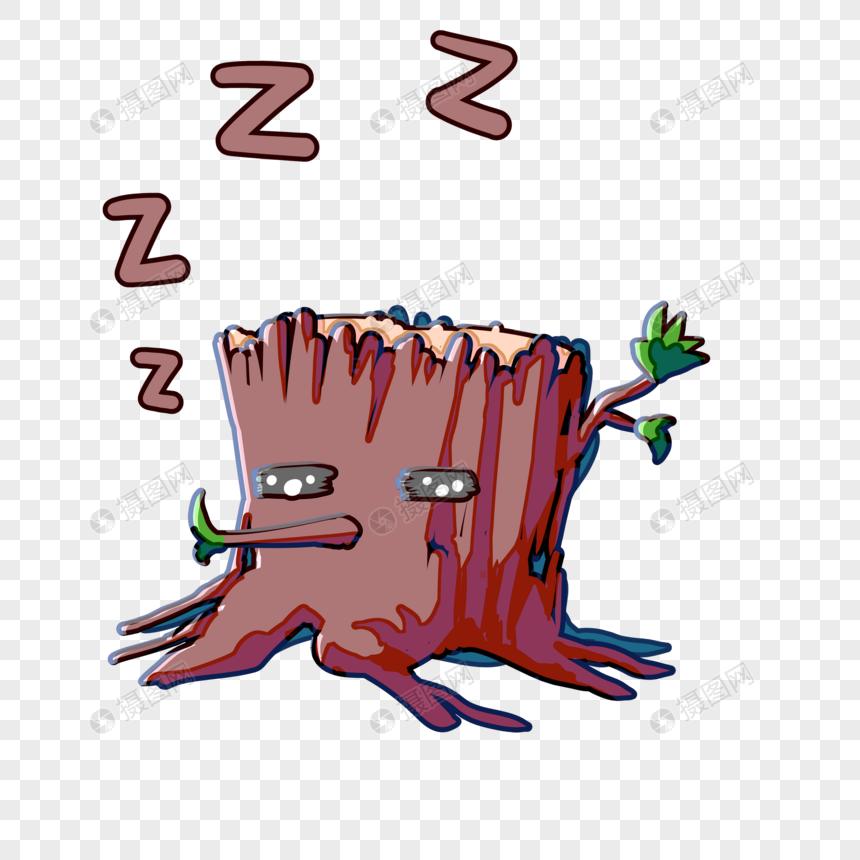 卡通表情2017表情包信微粤语睡觉1元素素材格式psd小树_v卡通素图片