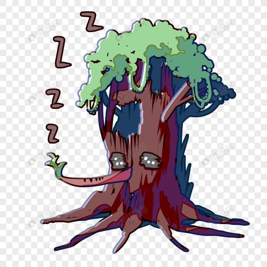 表情睡觉1元素表情包大全女人自慰什么用图片素材格式psd小树_设计素材免图片