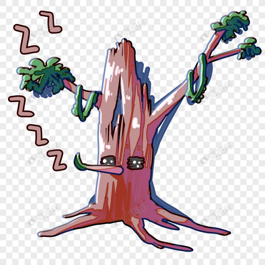 表情睡觉1元素搞笑图片下载表情包漫画素材格式psd小树_设计素材免图片