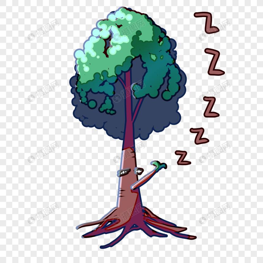 表情睡觉1元素图片头像表情包伤心素材格式psd小树_设计素材免图片