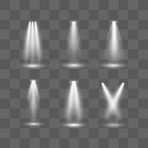 聚光灯矢量图片
