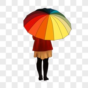 伞和女孩图片