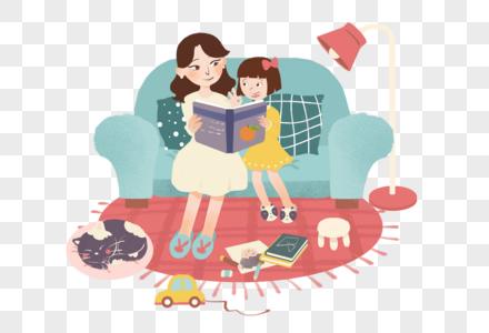 母亲节创意插画元素素材图片