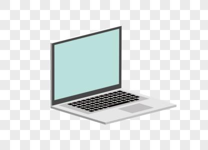 AI矢量图免抠元素2.5D笔记本电脑图片