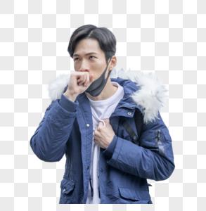 咳嗽的男人图片