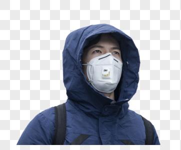 戴口罩的男人图片