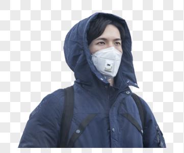 戴着口罩的男人图片
