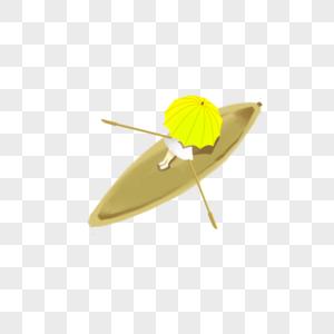 划船的女孩图片