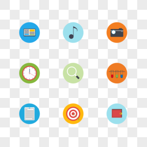 扁平化彩色教育类图标图片