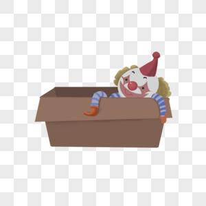 箱子中的小丑图片