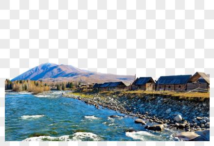 河边的房子图片