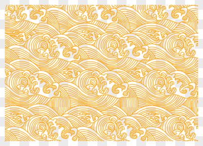 中国风金黄色线性水纹图片