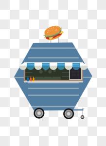 可爱卡通小房车AI矢量图图片