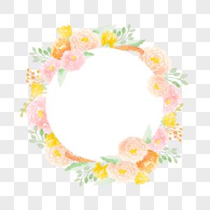 粉色芍药花花环图片