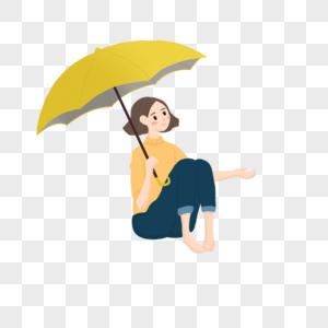 打雨伞的女孩图片