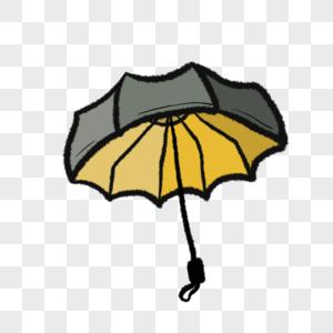一把彩色的打开的雨伞插图图片