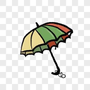 彩色的雨伞装饰插图图片