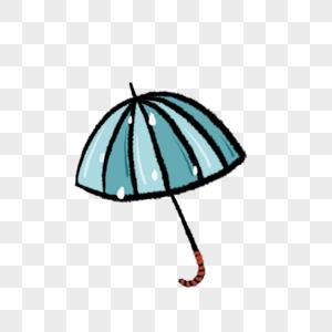 卡通可爱雨伞免抠插图图片