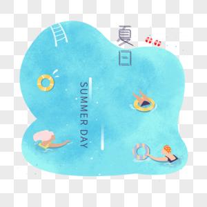 夏日清凉泳池图片