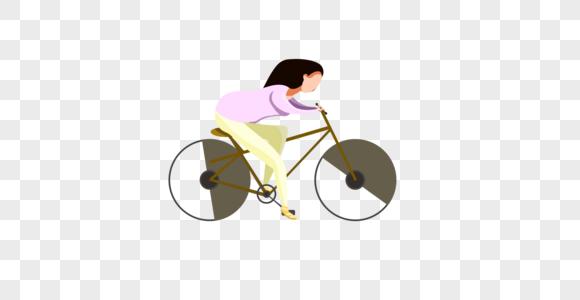 春游骑自行车旅行图片