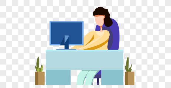 在办公室工作的女人图片