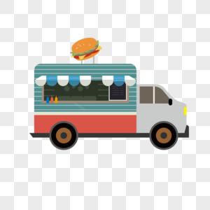 AI矢量图卡通快餐车图片