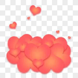 浪漫爱心520云彩图片