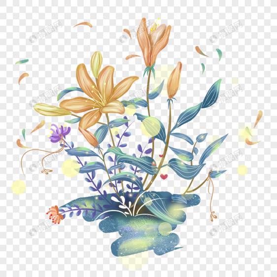 百合花丛图片