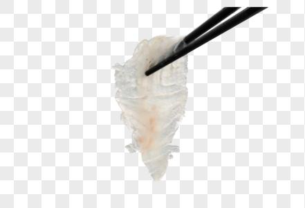 筷子夹生鱼片图片