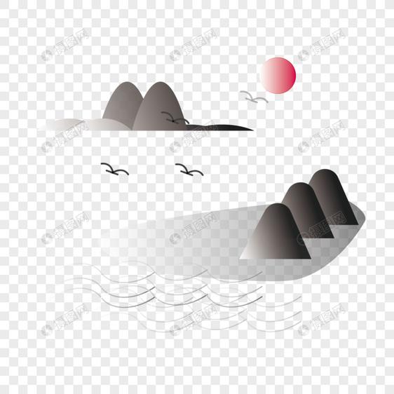 古风写意山水图片
