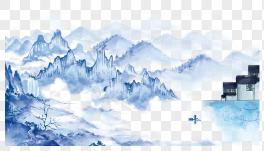 清明山水图片