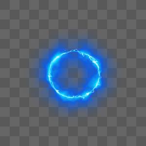 酷炫蓝色闪电光圈图片