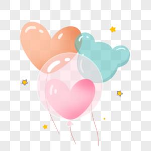 气球手绘插画元素图片
