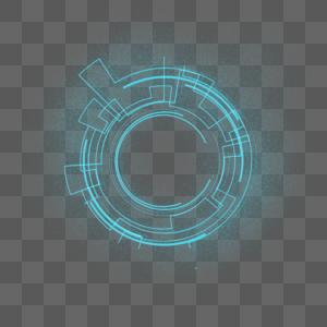 科技感圆形边框素材图片