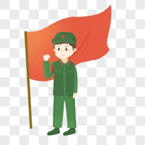 劳动节解放军小战士宣誓图片