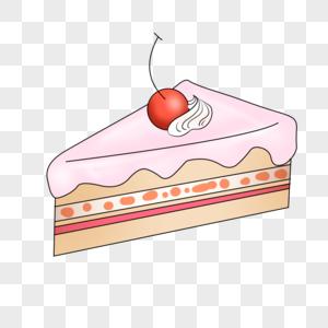 卡通手绘儿童节草莓蛋糕图片